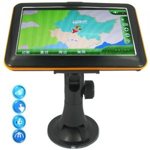 5.0 Inch High Resolution GPS Navigation With MP3 MP4